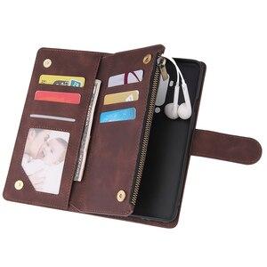 Image 3 - Funda de teléfono Oneplus 7T Pro con cremallera, billetera de cuero para Oneplus 7T 7 Pro One Plus 8 7 Oneplus 8 Pro, Funda magnética de negocios con tapa