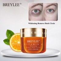 Breylee Vitamin C Eye Cream Whitening Dark Circle Eyebag Removal Brighten Skin Ageless Vc Eyes Serum Anti-Wrinkles Eye Care 20g 1