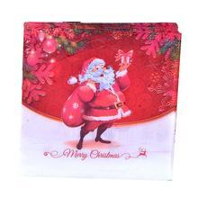 40 шт. Счастливого Рождества печатных салфеток мультфильм Санта Клаус салфетки ужин бумажные полотенца вечерние принадлежности