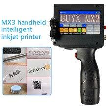 MX3 Handheld intelligent inkjet printer Small machine product date food packaging code machine batch number sweep spray gun