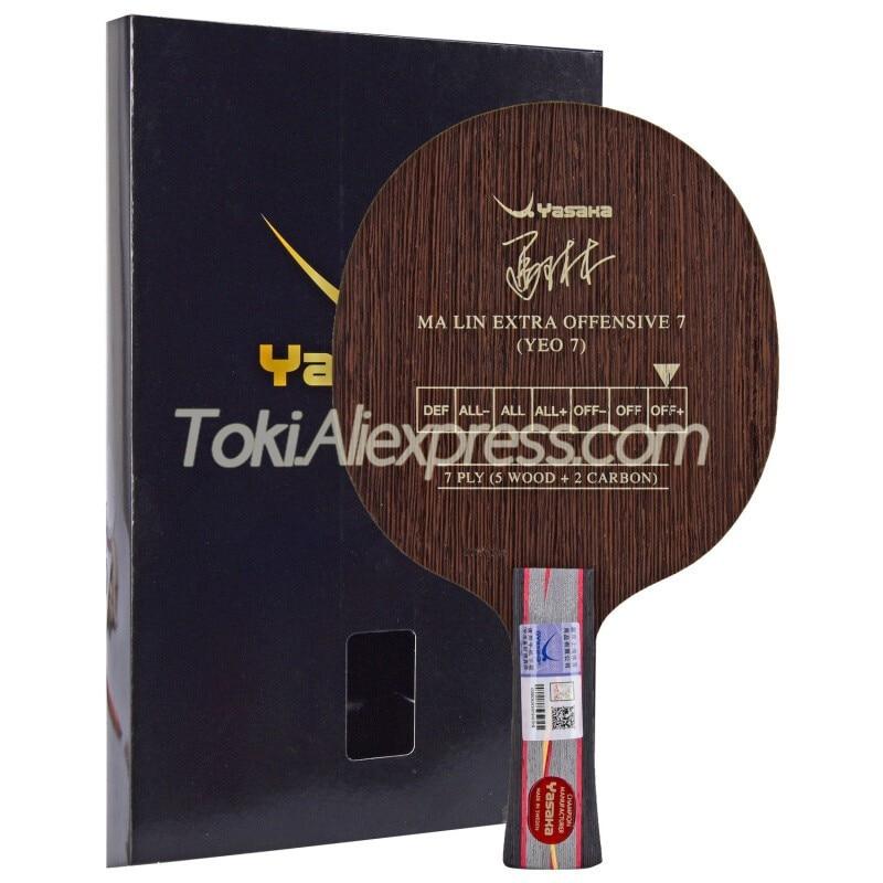 YASAKA MA LIN EXTRA OFFENSIVE 7 (5+2 CARBON, OFF+) Table Tennis Blade Racket Original YASAKA YEO 7 Ping Pong Bat Paddle