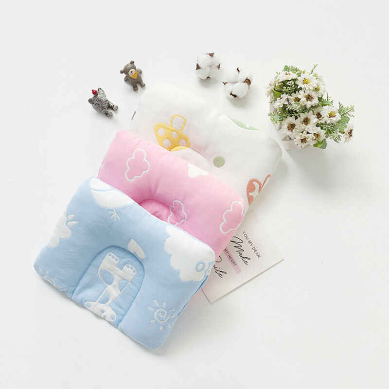 Newborn Baby Pillow Head Protection Cushion Sleeping Support Shaping Cot Pillow Prevent Flat Head Positione Cushion Pillow