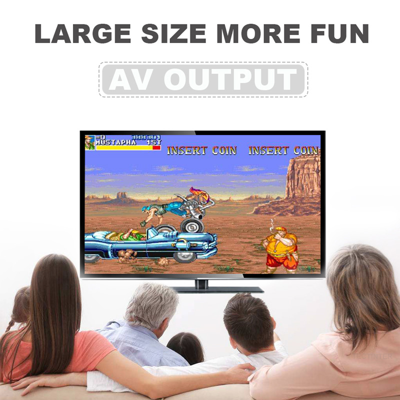 Купить с кэшбэком Handheld Retro Video Game Console Mini TV Built-in Classic 500/600 Different games for 4K TV HDMI/AV Output PAL & NTSC