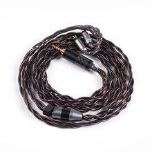 Yinyoo 4 Core 7N Einzigen Kristall Kupfer Kabel 2.5/3.5/4,4mm Ausgeglichen Kabel Mit MMCX/2PIN stecker Für ZS10/zsn Pro zsx