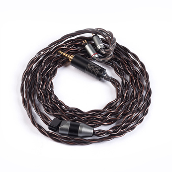 Yinyoo 4 Core 7N Single Crystal Copper Cable 2.5/3.5/4.4mm Balanced Cable With MMCX/2PIN Connector For ZS10/zsn Pro  zsx