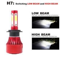 2PCS universal  6500k Cars headlighe 8000LM 9005 HB3 9006 HB4 H7 H11 auto blub led lamp Car Driving Light