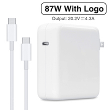 87W USB C Power Adapter Type C PD Charger Met 1M USB C Oplaadkabel Voor Nieuwste Macbook pro 15 inch A1706 A1707 A1708 A1719