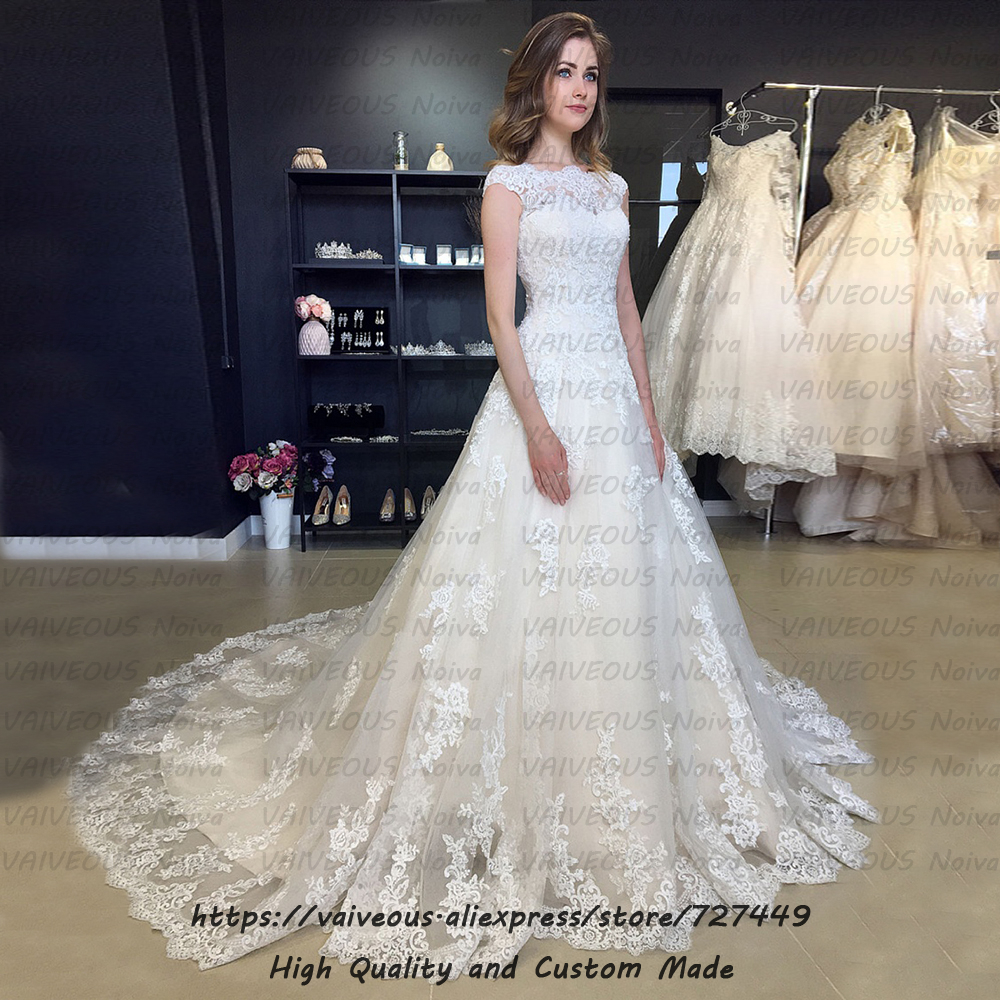Image 3 - Robe de mariee New Bride Dress Sexy Backless Boho Wedding Dress 2020 Wedding Gowns Cheap Lace Bridal Dresses Vestidos De Novia-in Wedding Dresses from Weddings & Events