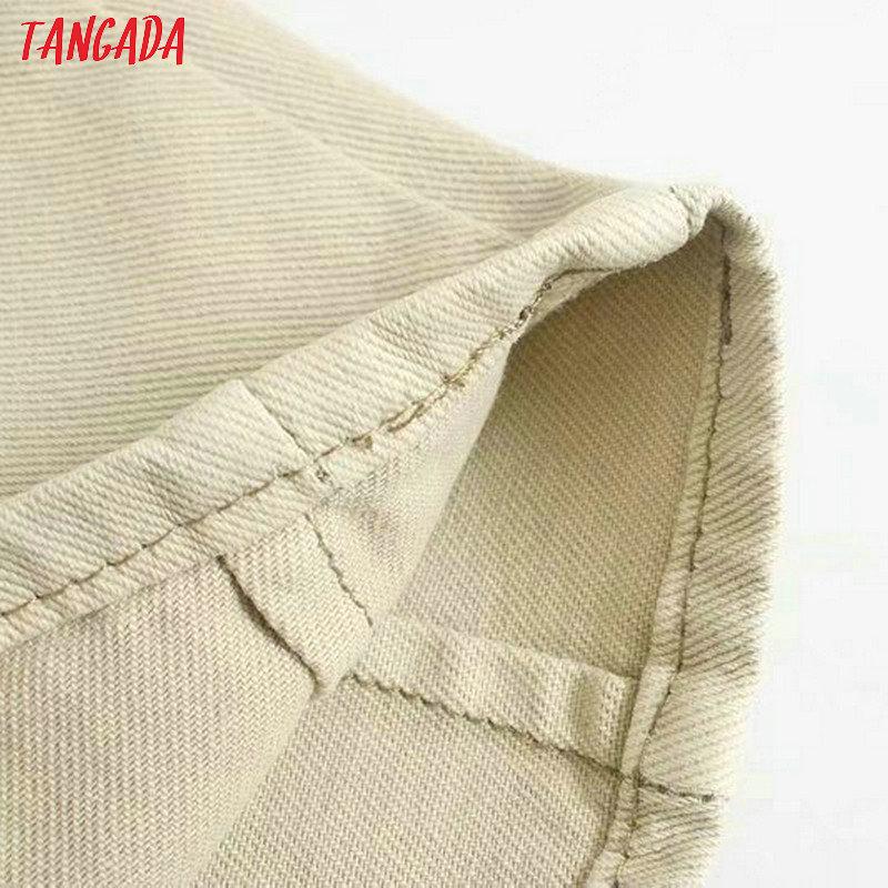 Tangada fashion women loose mom jeans long trousers pockets zipper loose streetwear female pants 4M58 63