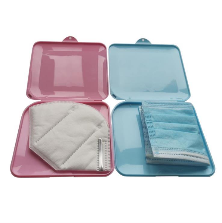 4pcs 4 colors KN95 Mask Storage Case Disposable Mask Storage Box N95 Portable Mask Storage Box Face Mask Storage Holder Case(China)