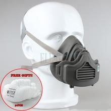 Stofmasker Gasmasker 4 Layer Filter Katoen Stofbeschermde Half Gezichtsmasker Voor Dagelijks Gebruik Timmerman Builder Mijnwerker Polijsten