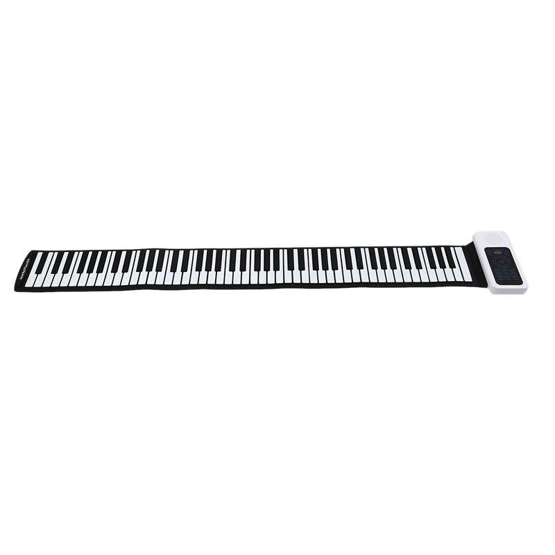 Обновленная 88 клавиш универсальная гибкая сворачивающаяся мягкая электронная клавиатура пианино для гитарных проигрывателей - 2