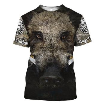 Tessffel Animal Bow Deer Hunter Hunting Camo New Fashion Harajuku Unisex 3DPrint Short Sleeve Streetwear T-shirts Men Women s-4 2