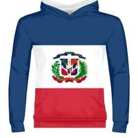 DOMINICA male youth custom name dma zipper sweatshirt nation flag spanish Dominican Dominicana republic print photo clothing