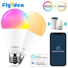 E27 ampoule intelligente 15W WiFi lampe LED changement de couleur ampoule magique lumières de réveil compatibles avec Alexa Google Assistant livraison directe