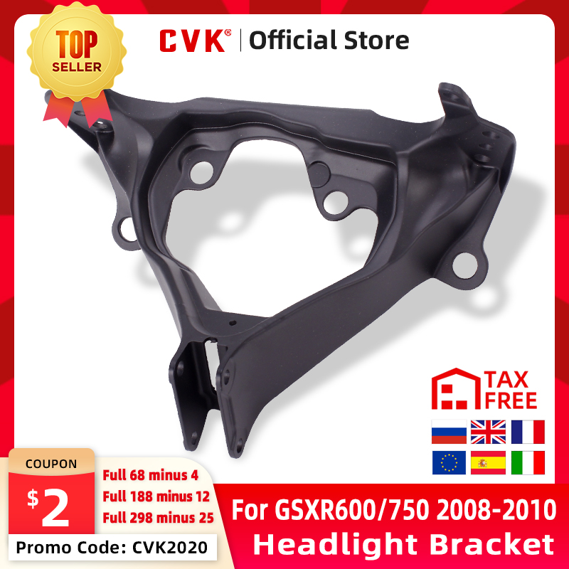 CVK Headlight Bracket Motorcycle Upper Stay Fairing For SUZUKI GSXR600 GSXR750 GSXR 600 750 GSX-R 08 09 10 2008 2009 2010 Parts