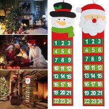 Рождественский календарь Санта-Клаус, снеговик, Рождественский таймер, Рождественский обратный отсчет, настенный календарь, домашнее украшение, посзевка, Natalizie