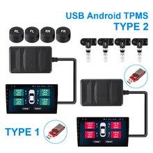 LEEPEE USB TPMSสำหรับรถวิทยุDVD Playerอะไหล่ยางภายนอกภายในเซนเซอร์ความดันยางระบบAndroid TPMS