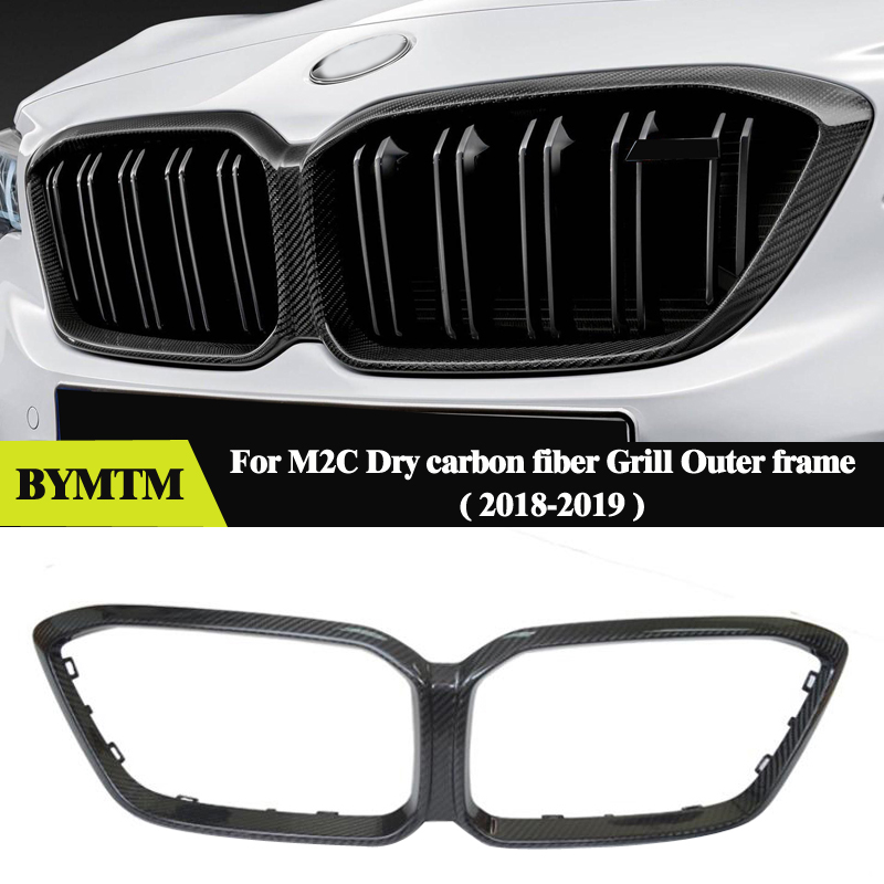 Mp Style Dry carbon fiber Grilles Frame cover Grill High Quality For BMW F87 M2C M2 COMPETITION image