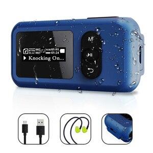 16 Гб Водонепроницаемый MP3-плеер для плавания Дайвинг IP68 Подводные спортивные музыкальные плееры с экраном наушники Поддержка fm-радио шагом...