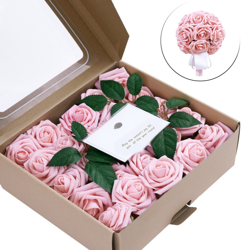 50 шт. 1 коробка Высокое качество сохраненные цветы цветок бесземная Роза День матери подарок вечная жизнь цветок Материал Подарочная коробк...
