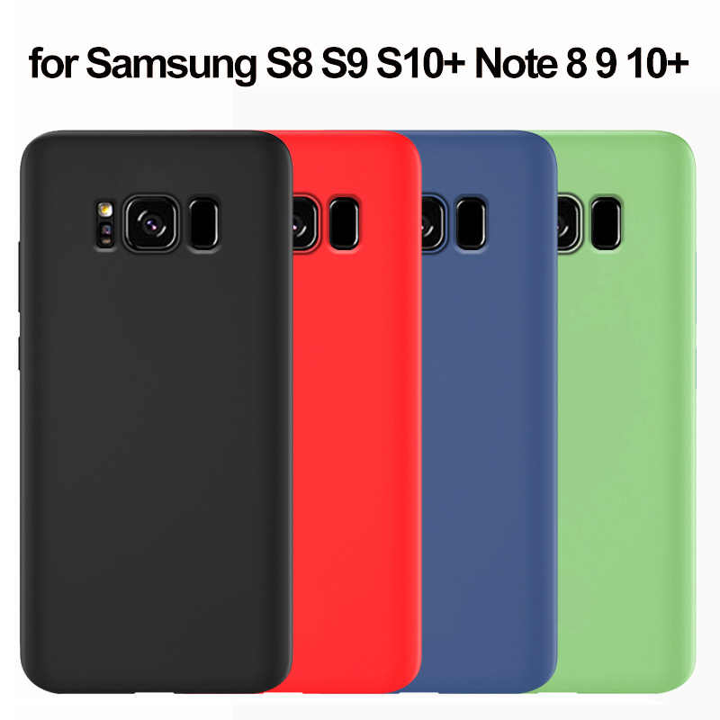 For Samsung S8 Case Silicone Soft Back Cover For Samsung Galaxy S8 S9 S10 5G Plus S10e Note 10 Plus 8 9 Case Protection Cover