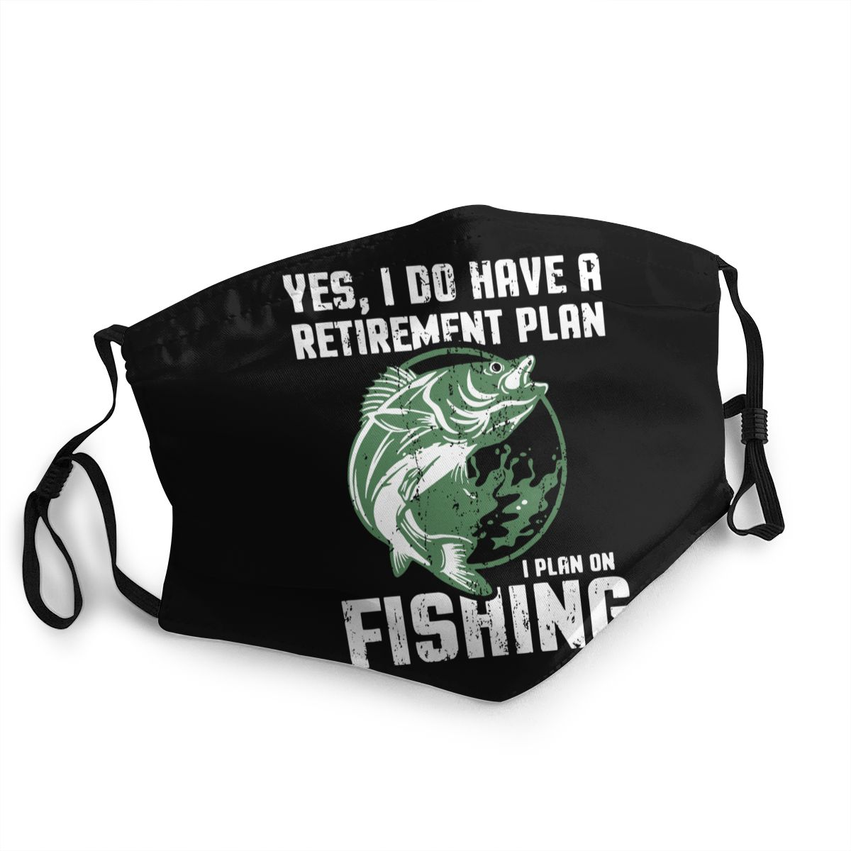 Retirement Plan On Fishing Adult Reusable Mouth Face Mask Anti Bacterial Dustproof Protection Cover Respirator image