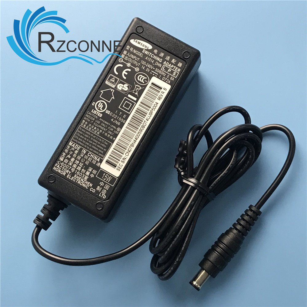 AC SWITCHING Adapter Power Supply Charger For Samsung A1514_DHN DSM BN44-00590A S19D300HY S19D300BY  14V 1.07A