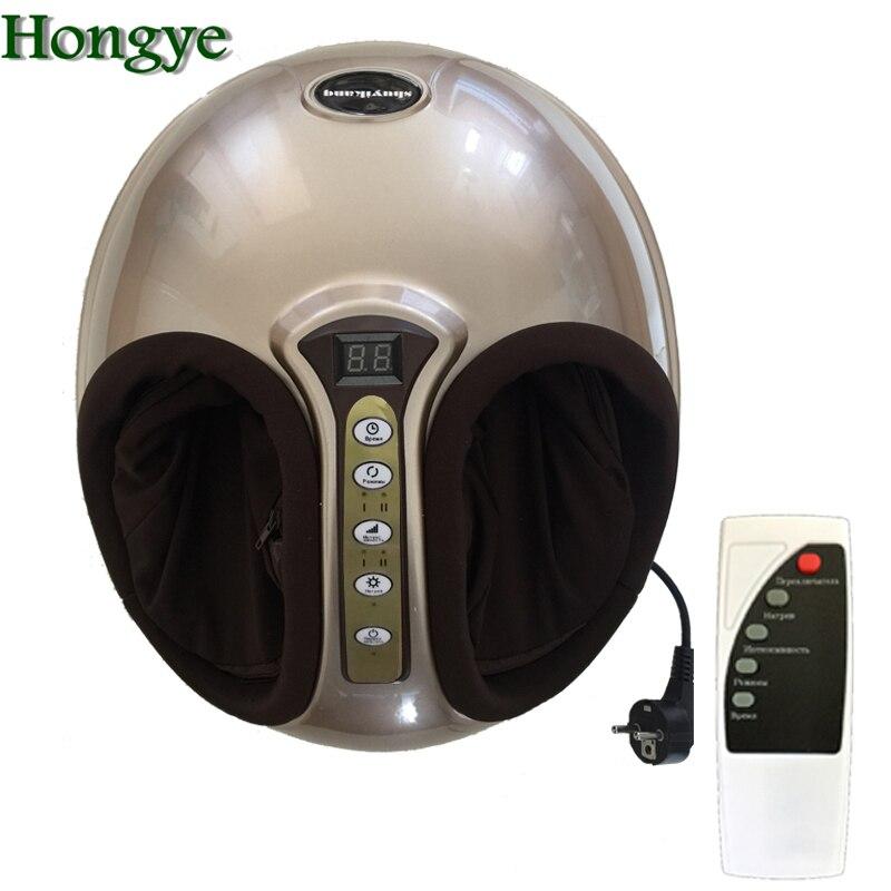 220V Electric Antistress 3D Shiatsu Kneading Air Pressure Foot Massager Infrared Foot Care Machine Heating & Therapy EU plug(China)