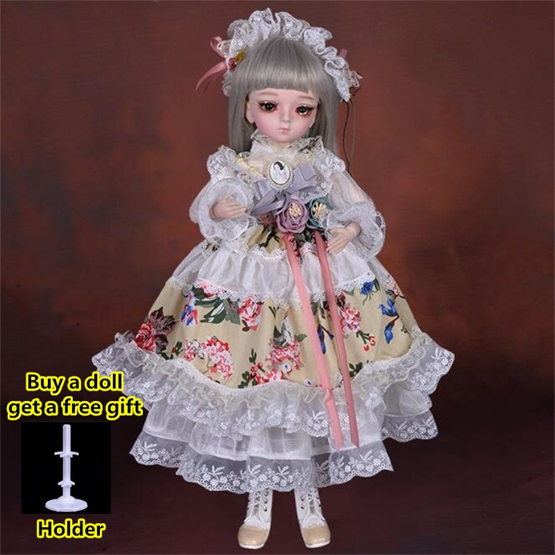 18 Movable Joints BJD Doll 1/4 With Full Outfits Wigs Shoes official Makeup Ball Jointed Dolls collection kids toys Christmas gi 14