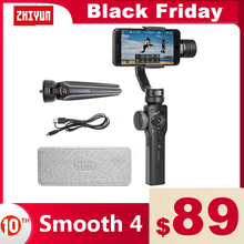 ZHIYUN Official Smooth 4 Phone Gimbal 3 Axis Handheld Stabilizers for Smartphone iPhone/Samsung/Xiaomi/Gopro Hero action camera