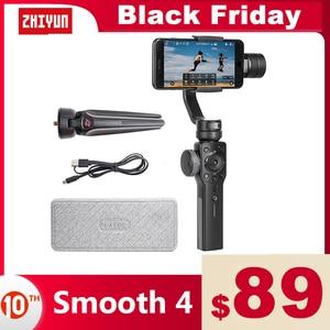 Image 1 - ZHIYUN Smooth 4 公式スムーズ 4 電話ジンバル 3 軸ハンドヘルド安定剤iphone/サムスン/移動プロヒーロー/xiaomi/李 4 18kアクションカメラ