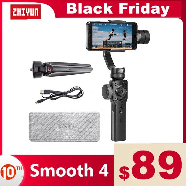 ZHIYUN Smooth 4 公式スムーズ 4 電話ジンバル 3 軸ハンドヘルド安定剤iphone/サムスン/移動プロヒーロー/xiaomi/李 4 18kアクションカメラ