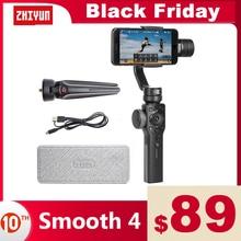 ZHIYUN Smooth 4 อย่างเป็นทางการSmooth 4 โทรศัพท์Gimbals 3 Axis Handheld StabilizersสำหรับiPhone/Samsung/Gopro Hero/Xiaomi/Yi 4K Actionกล้อง