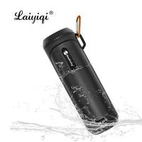 Laiyiqi column flashlight torch waterproof portable wireless speaker Bluetooth 5.0 Bicycle bike mount hook bass wild SOS bocina