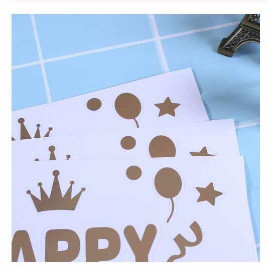 1 Vàng Bạc Đen Đỏ tùy chỉnh bóng Sticker đám cưới Cho Bé sinh nhật trang trí DIY Tên Giáng Sinh Lễ Tình Nhân ngày