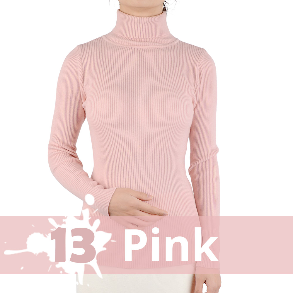 2021 Autumn Winter Thick Sweater Women Knitted Ribbed Pullover Sweater Long Sleeve Turtleneck Slim Jumper Soft Warm Pull Femme 15