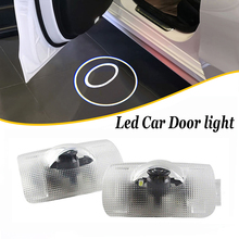 2 pcs 12V Led Door Light Logo Projector Ghost Shadow Lights Courtesy Welcome Lamp Car Accessories For Toyota Avalon Land Cruiser