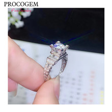 Fancy Moissanite Rings 1ct VVS Excellent Women Lady Party Engagement certificate Rings 925 Sterling silver Fine Jewelry #6888(China)