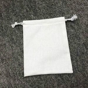 Image 4 - Linnen Zakje Katoen Jute Koord Tassen Sieraden Verpakking Make Wedding Party Opslag Gift Bags Wrapping Levert Print Logo 50