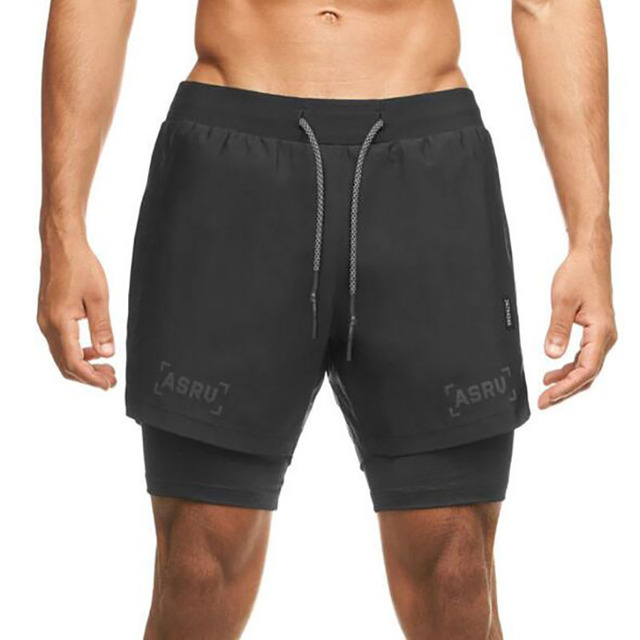 2020 Camo Running Shorts Men 2 In 1 Double-deck Quick Dry Sport Shorts Fitness Jogging Workout Shorts Men Sports Short Pants 2