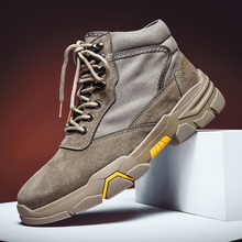 Winter/autumn Men High Quality Brand Military Leather Boots Outdoor Shoes Snow Boots High-top Fashion Sneakers Tooling Shoes цена 2017