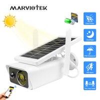 Cámara IP Solar de 1080P para exteriores, impermeable, inalámbrica, de seguridad, alimentada por energía Solar, con detección de movimiento, visión nocturna, IP, Wifi