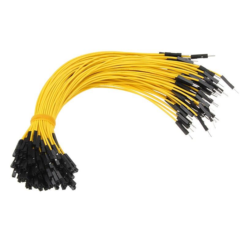 50 шт. 10 см/20 см/30 см Dupont кабель провода для Arduino Макет Мужской Женский Dupont перемычка Провода кабели 1 P-1 P 2,54 мм разъем провода