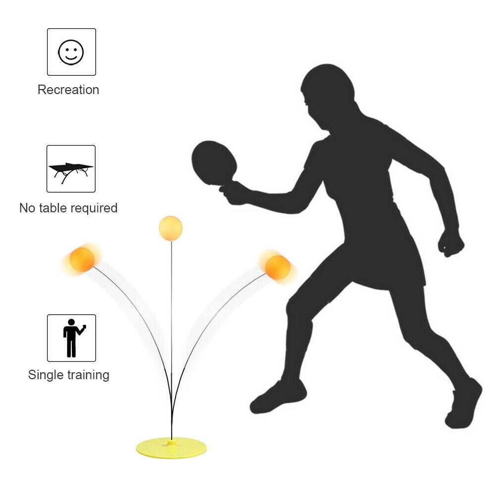 20cm Tennis Rebound Trainer Table Tennis Balls Kit Rebound Robot Indoor