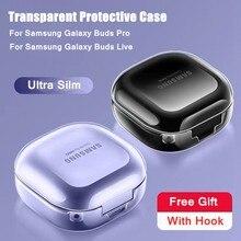 Étui de protection Transparent en Silicone pour Samsung Galaxy Buds Pro/Live, étui souple Anti-chute pour écouteurs