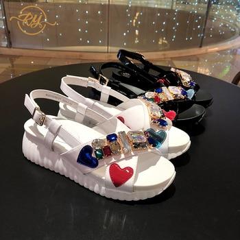 RY-RELAA womens shoes Genuine Leather women sandals sandalias mujer 2020 flat sandals gladiator sandals women luxury shoes women
