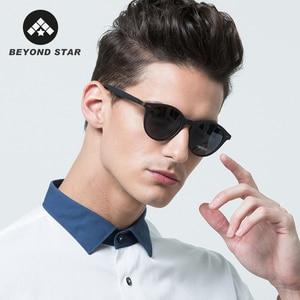 Beyondstar ultraleve tr90 quadro polarizado óculos de sol das mulheres dos homens redondos 2020 óculos de condução uv400 zonnebril tr0049