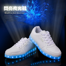 Autumn Winter Mens Shoes Dance Boy LED Light Off White Casual Night Sports
