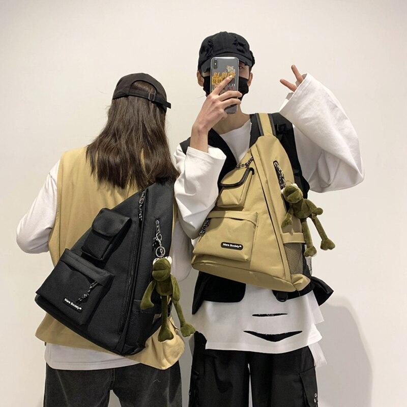 Men Waterproof Chest Bag Women Travel Sport Hip Hop Shoulder Sling Backpack Kanye Large Capacity Crossbody Bags Tactical Gift